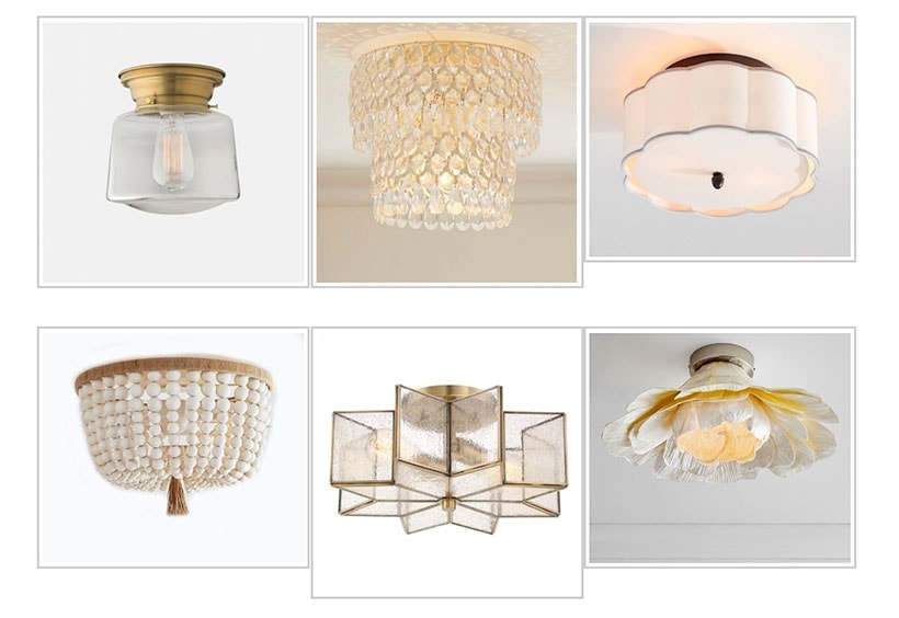 Save  sc 1 st  The Harper House & Flush Mount Lighting: 30 Affordable Options | The Harper House
