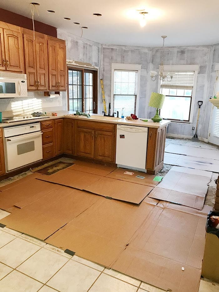 How to Remove Tile Floors | The Harper House