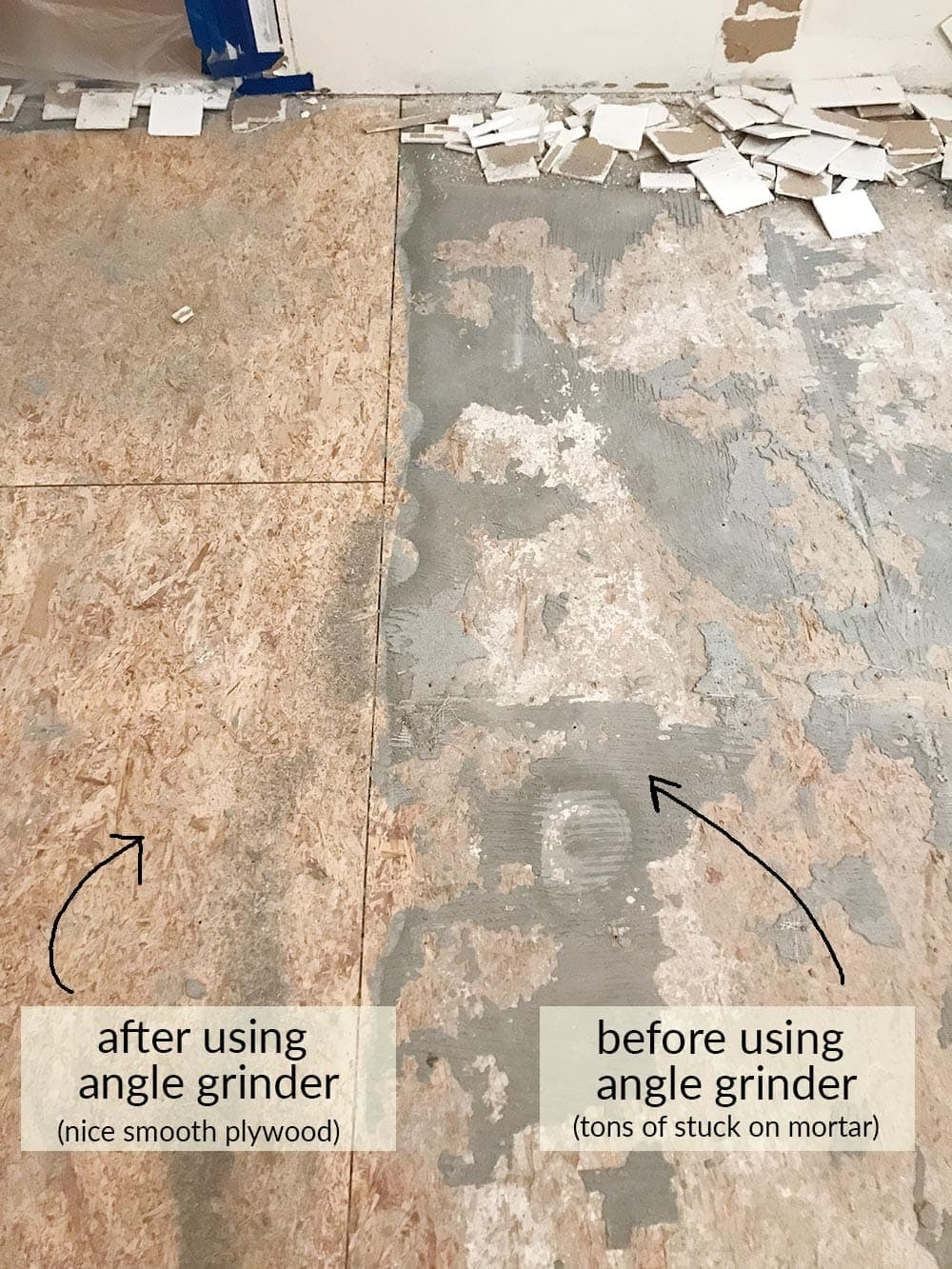 How to remove tile floors the harper house how to remove tile floors tips and tricks for diy tile removal dailygadgetfo Images
