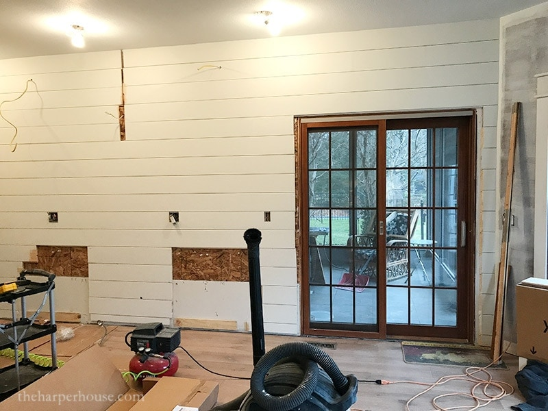 Completely new Kitchen Remodel - Adding a Shiplap Wall | The Harper House YU55