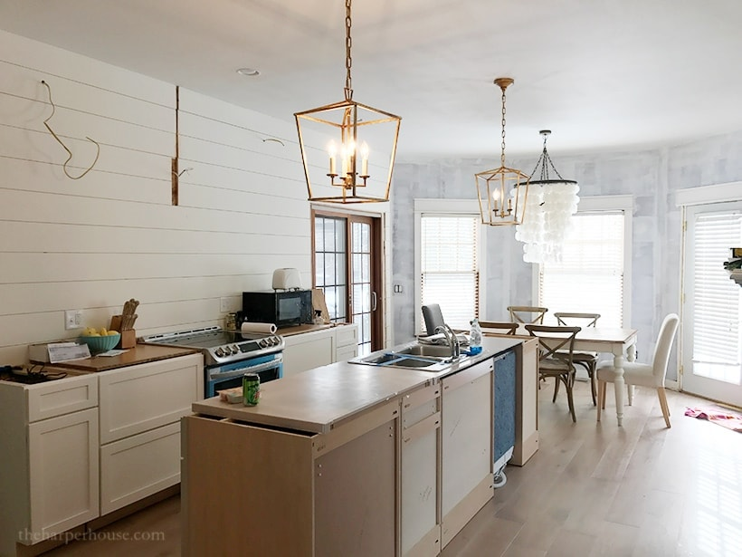 Kitchen design: adding custom kitchen island trim to the island | theharperhouse.com