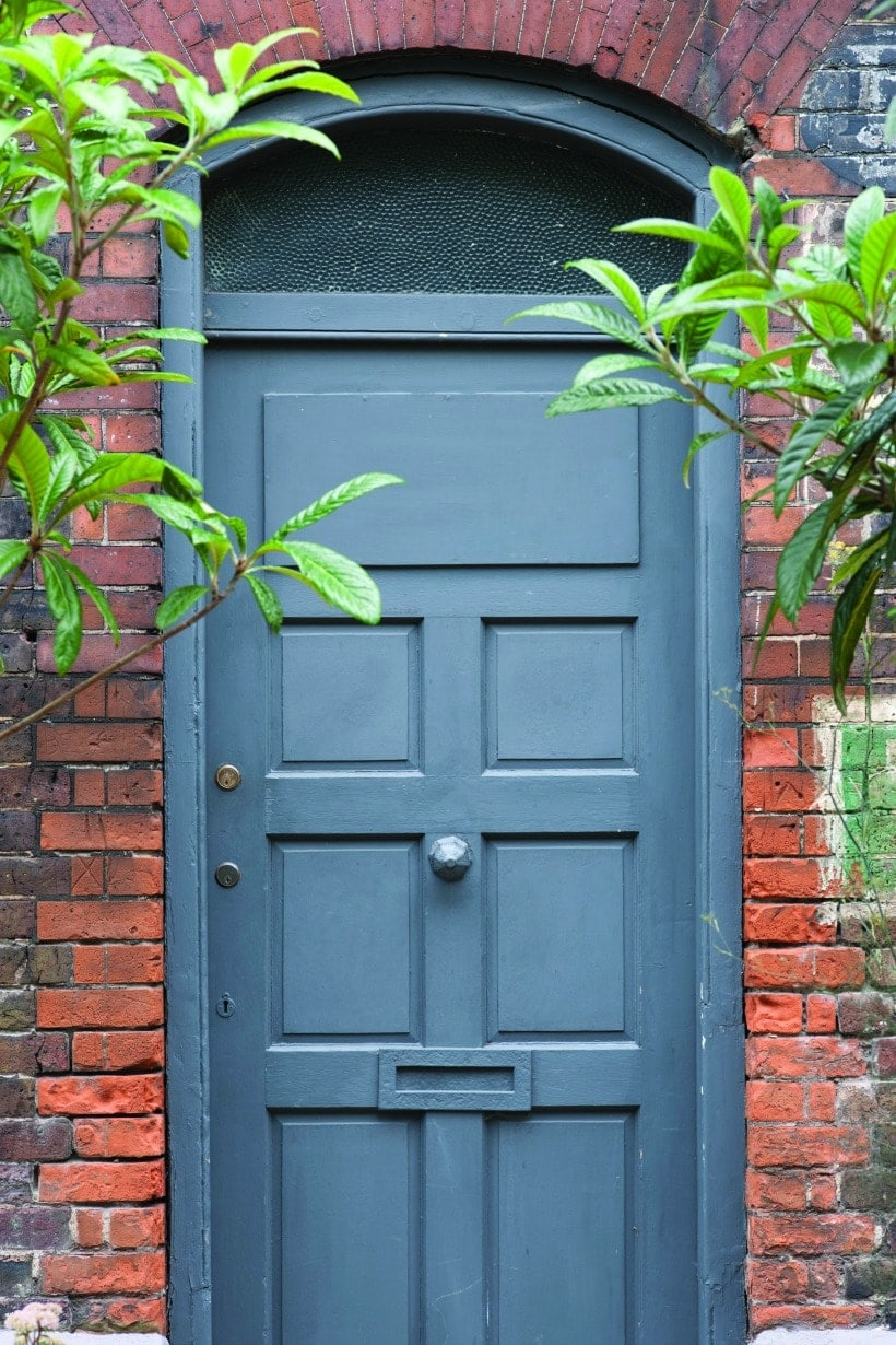 Front Door Paint Colors: Farrow & Ball Hague Blue Exterior Eggshell No. 30
