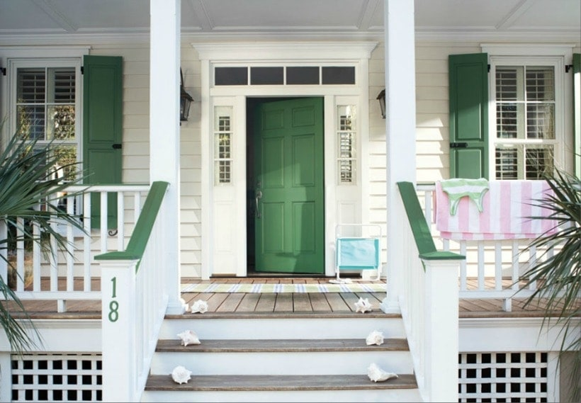 Front Door Paint Colors: Benjamin Moore Green Meadows 2040-20