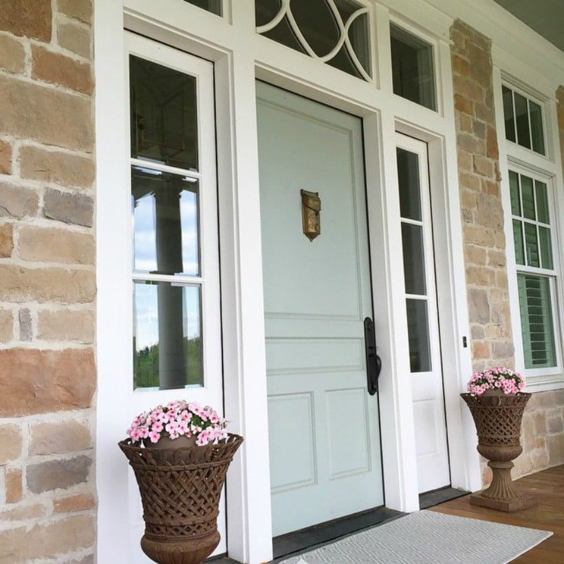 Front Door Paint Colors: Sherwin Williams Sea Salt SW 6204