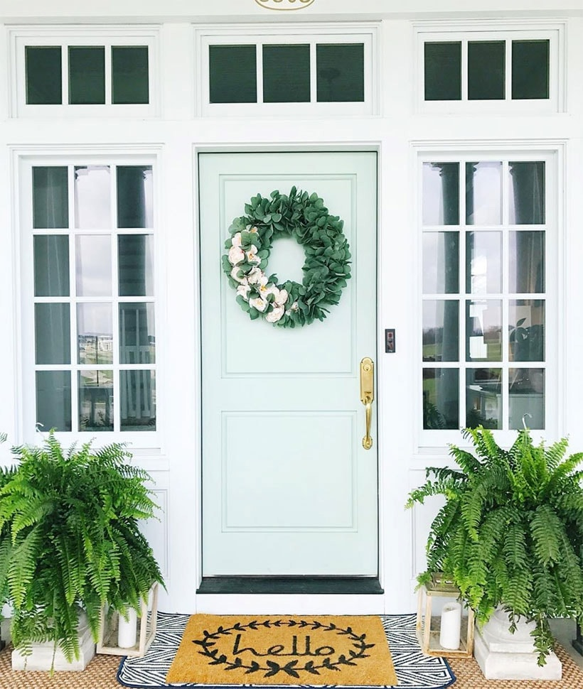 Exceptionnel Front Door Paint Colors: Sherwin Williams Waterscape | Front Door Colors,  #paintcolor #