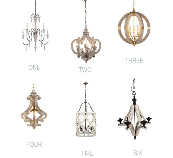 Wood Chandelier Lighting Round Up for 2018 - where to find affordable wood chandeliers to fit every budget. #farmhouse #fixerupper #fixerupperstyle #lighting