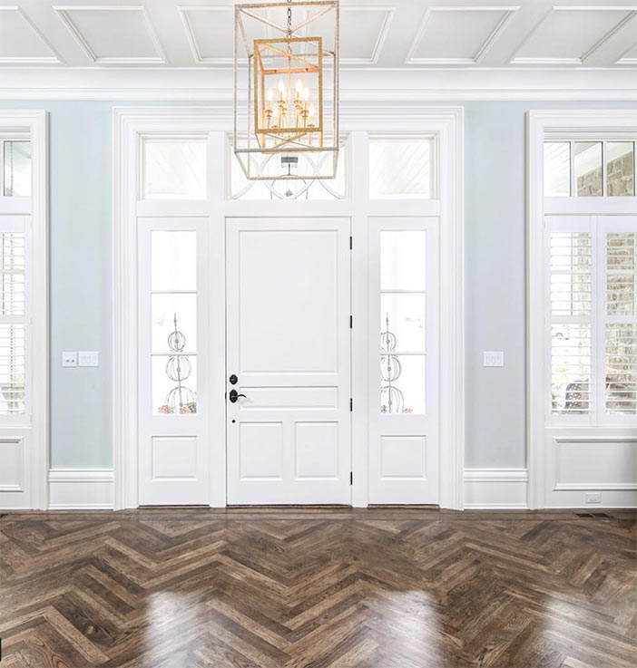 herringbone wood floor design by Gretchen Black