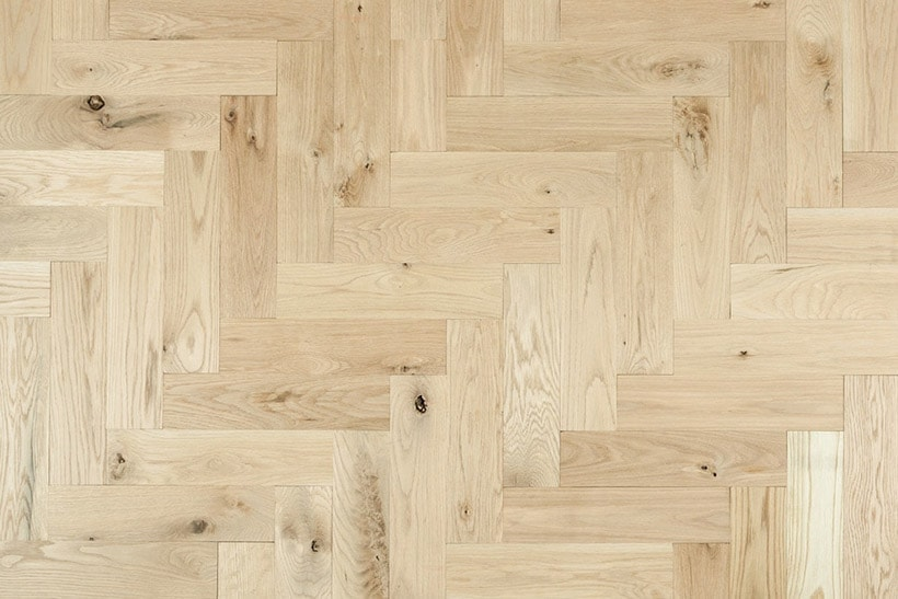 white oak natural herringbone wood flooring | herringbone wood floors via BuildDirect