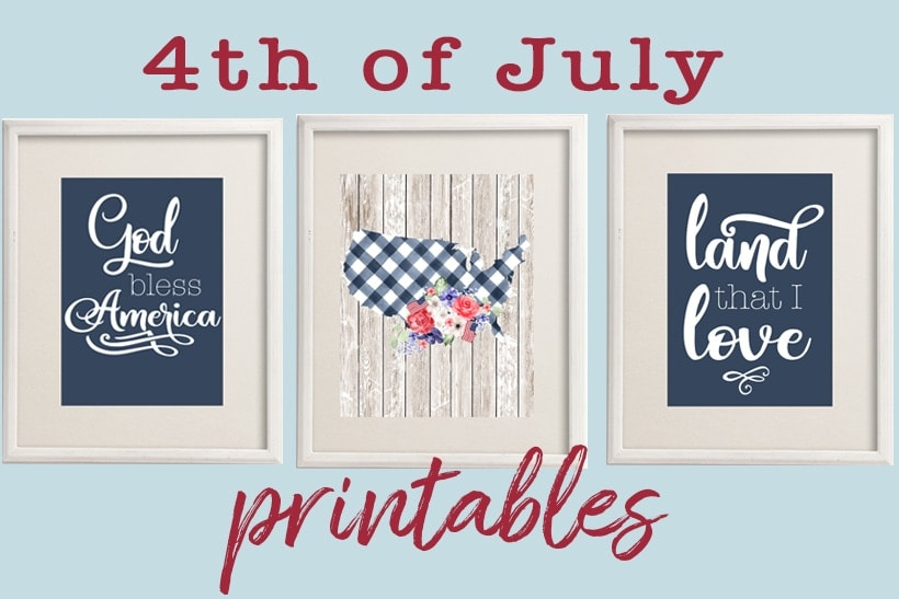 free 4th of July printables | God Bless America free printable wall art | patriotic art prints #freeprintable #wallart #walldecor #usa