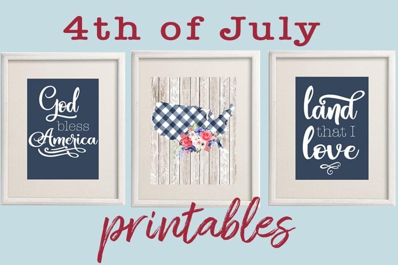 free 4th of July printables | God Bless America free printable wall art | patriotic art prints #freeprintable #wallart #walldecor #usa