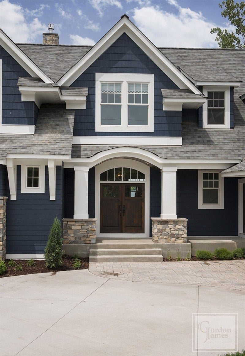 Navy Blue Paint Exterior Lake House Colors
