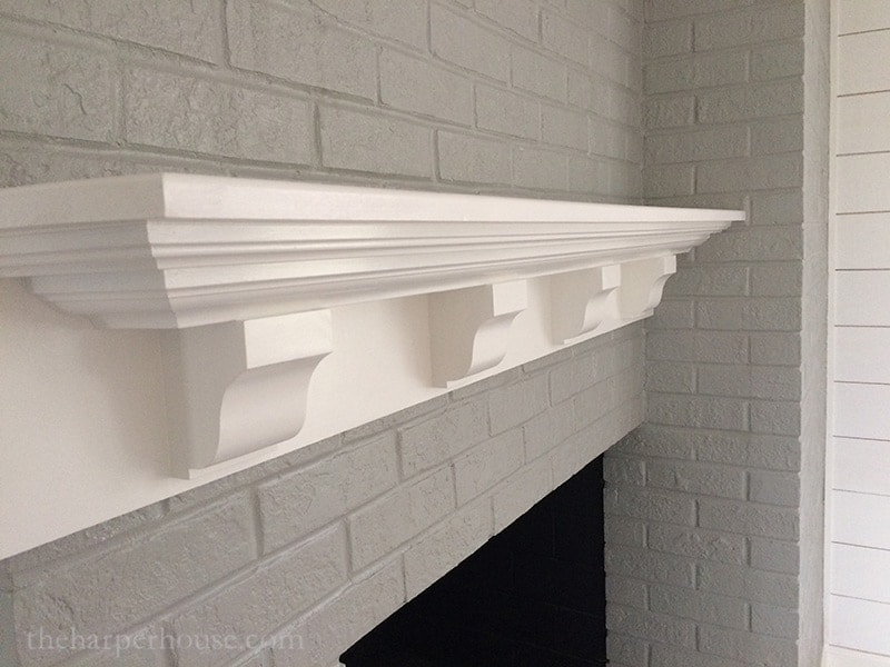 diy white fireplace mantel