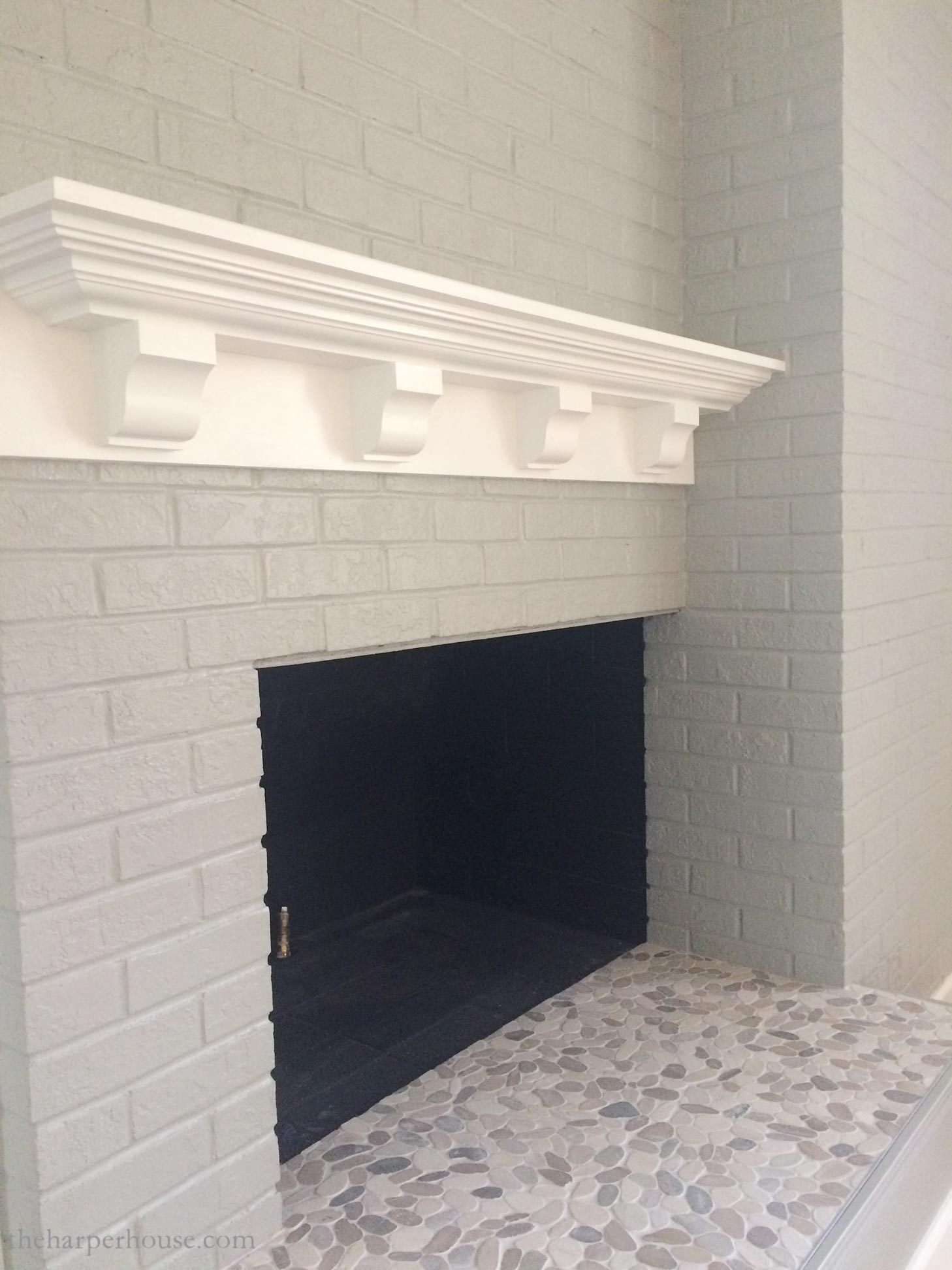 Brick Fireplace Makeover You Won T Believe The After The Harper House