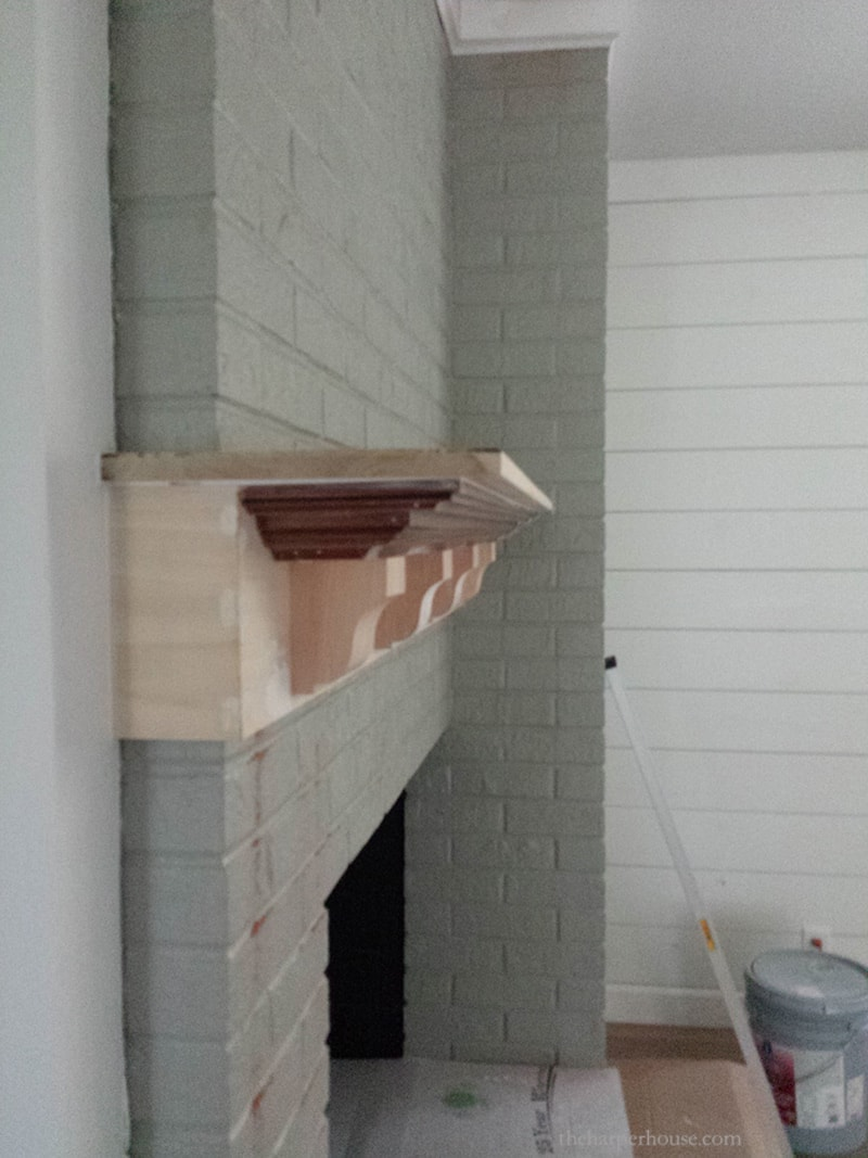 building a fireplace mantel with crown molding and corbels