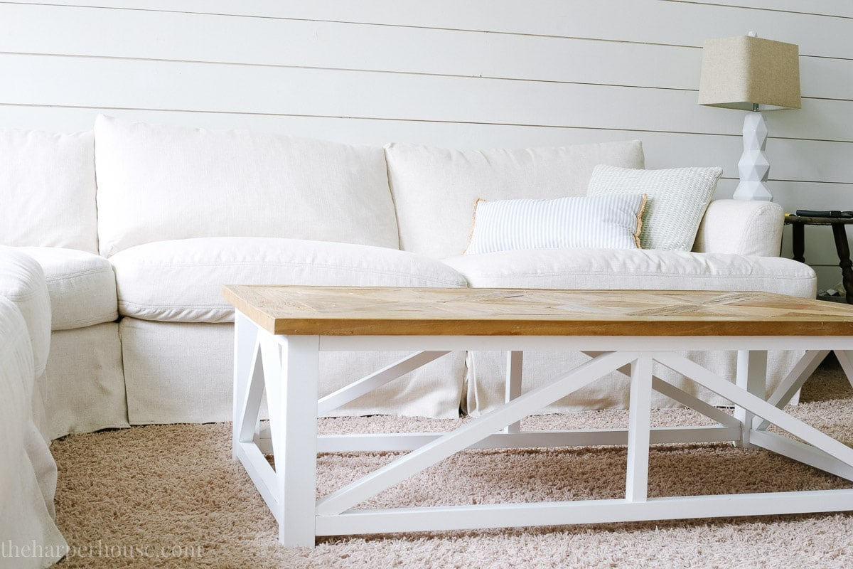 reclaimed wood farmhouse coffee table from Amazon