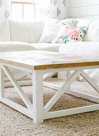 wood coffee table from Amazon