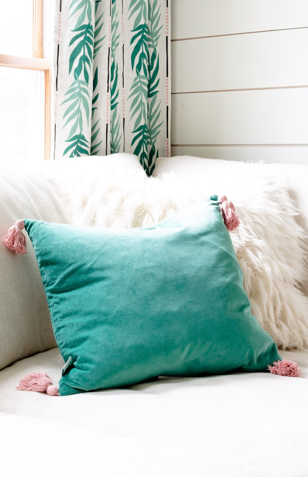Flower Home throw pillows