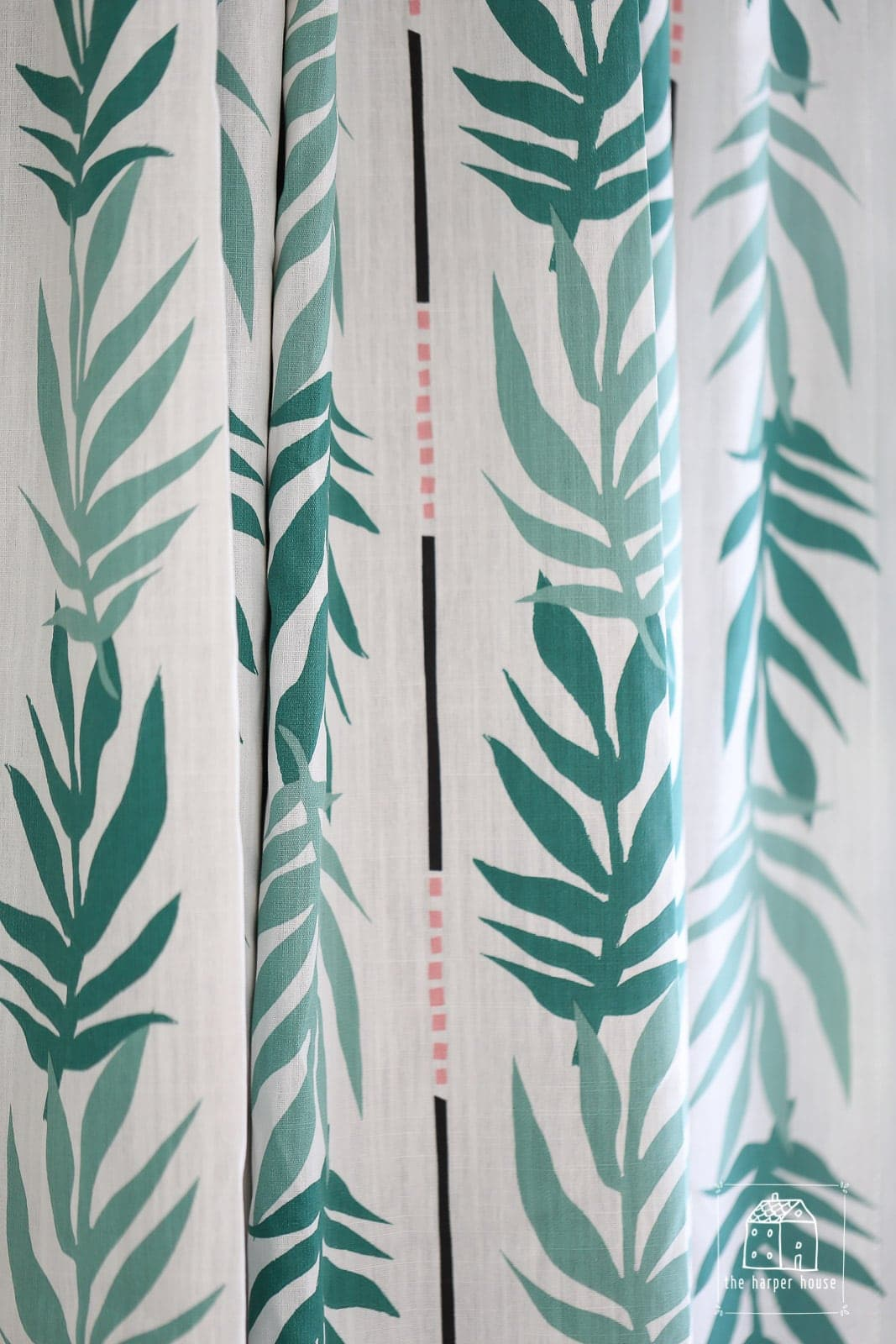 Drew Barrymore Flower Home Vintage Palm Curtain fabric