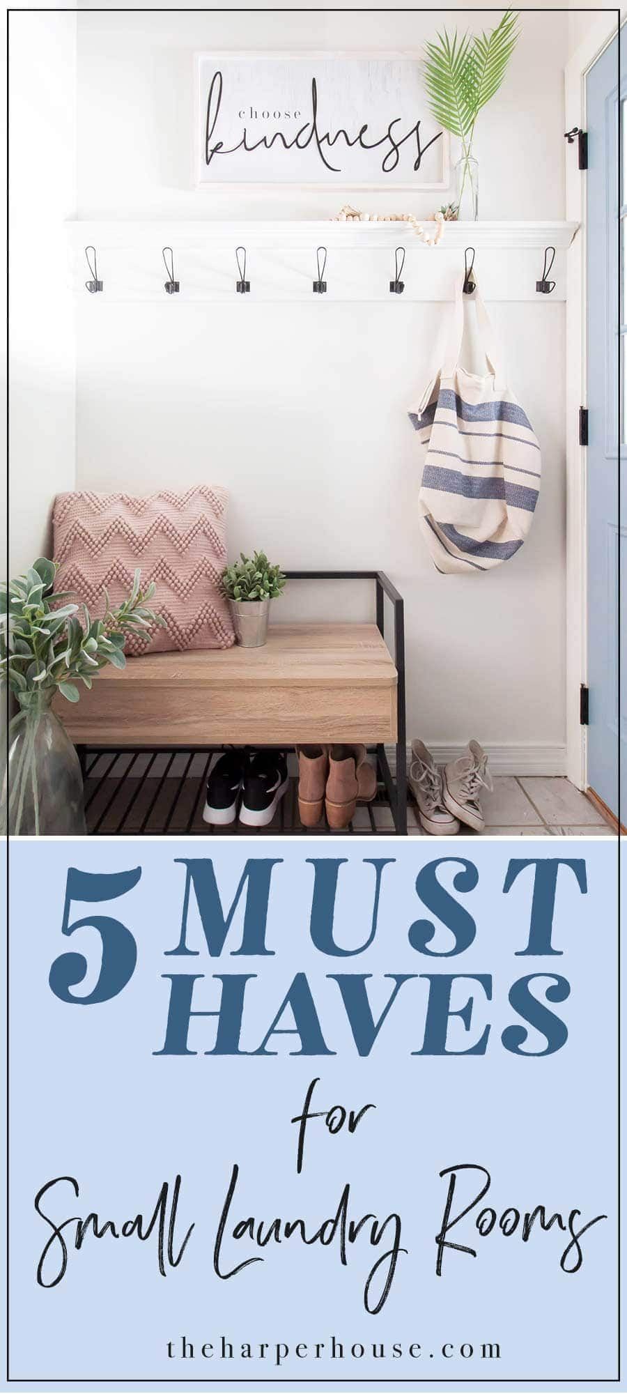 5 Must Haves for small laundry rooms