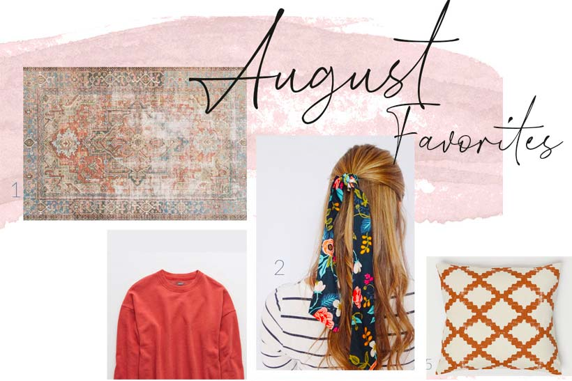 August favorites including hair scarves, boho bracelets, and fall pillows & rugs | see full shopping list on the blog theharperhouse.com #falldecor #homedecor
