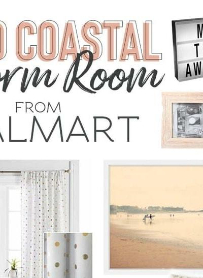 Dorm room decor and decorating ideas - grab these dorm room essentials to decorate your college dorm, all available at Walmart! #dorm #dormbedding #bohobedroom #dormroom
