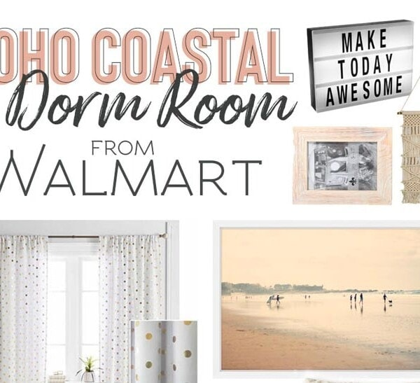 Dorm room decor and decorating ideas - grab these dorm room essentials to decorate your college dorm, all available at Walmart! #dorm #dormbedding #bohobedroom #dormroom