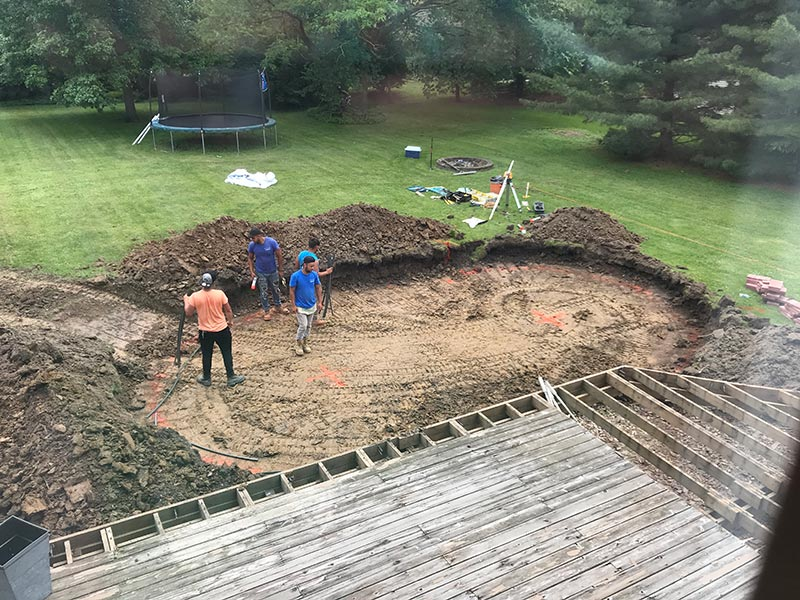 building a semi underground pool | The Harper House
