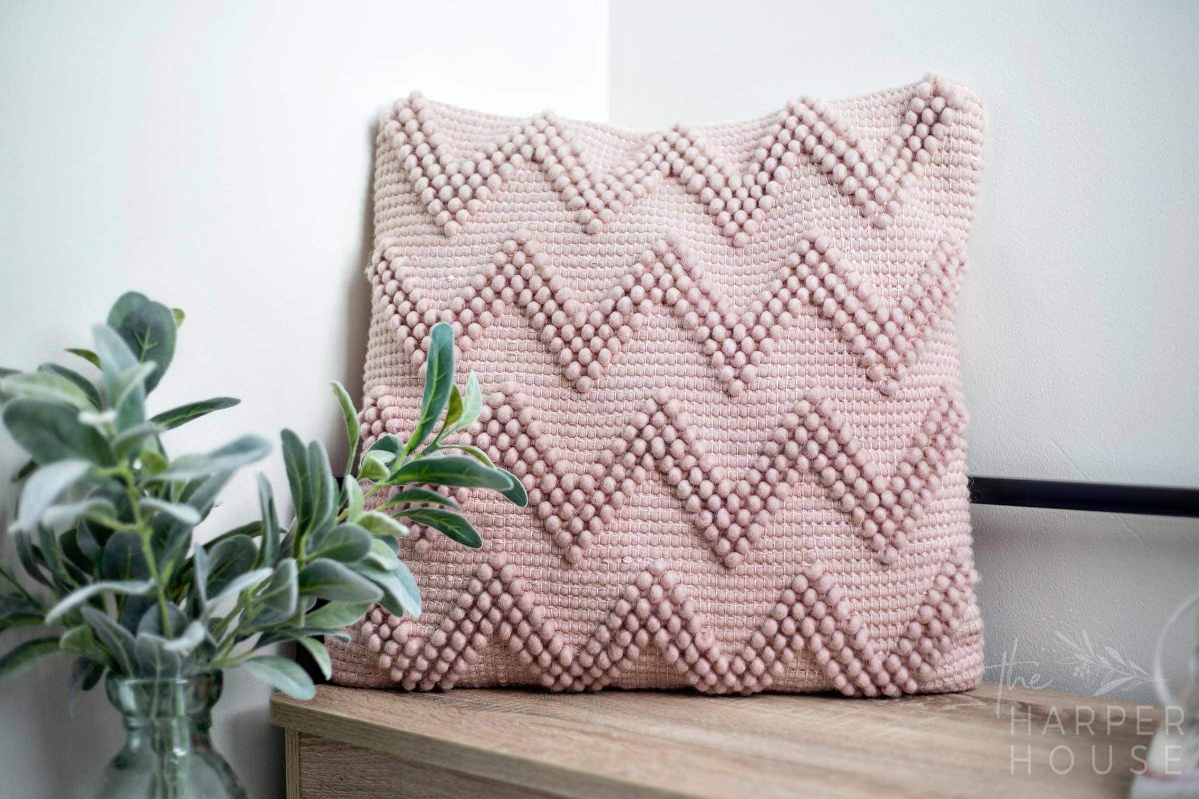 mauve pink pillow