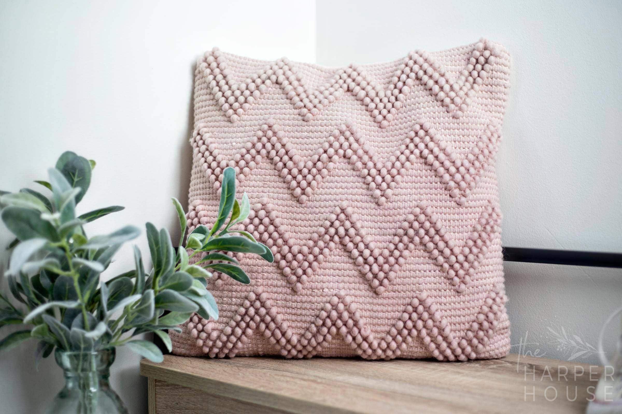 mauve pink pillow