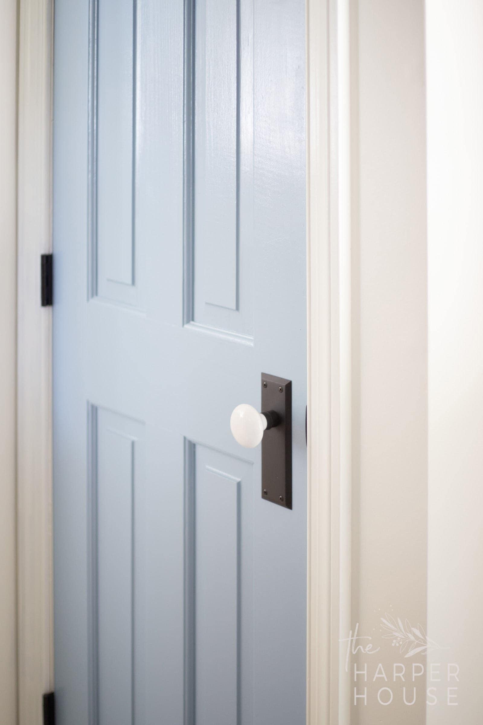 blue interior doors