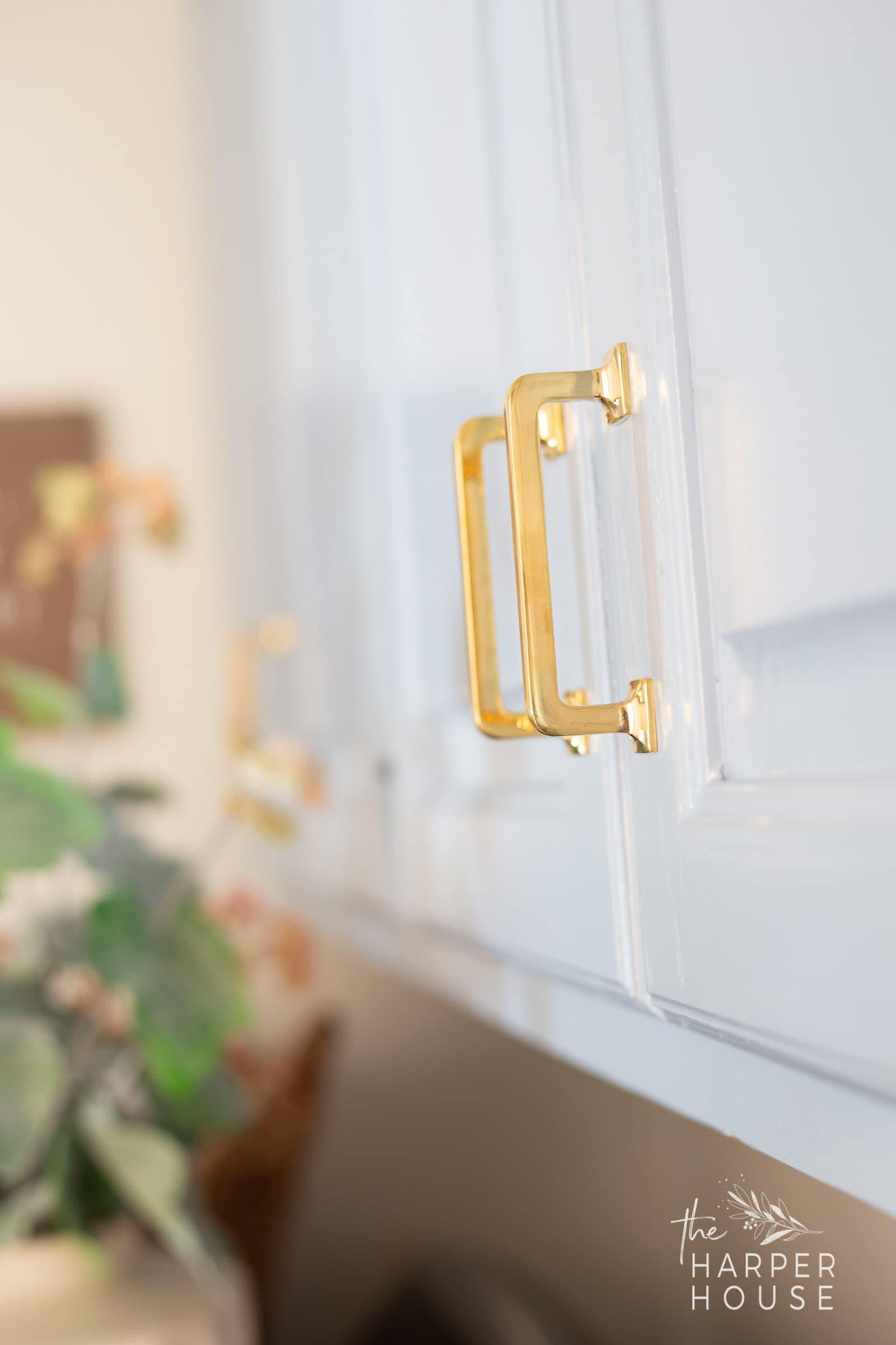 unlacquered brass cabinet pulls