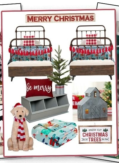 holiday guest bedrooms - Christmas decorating ideas