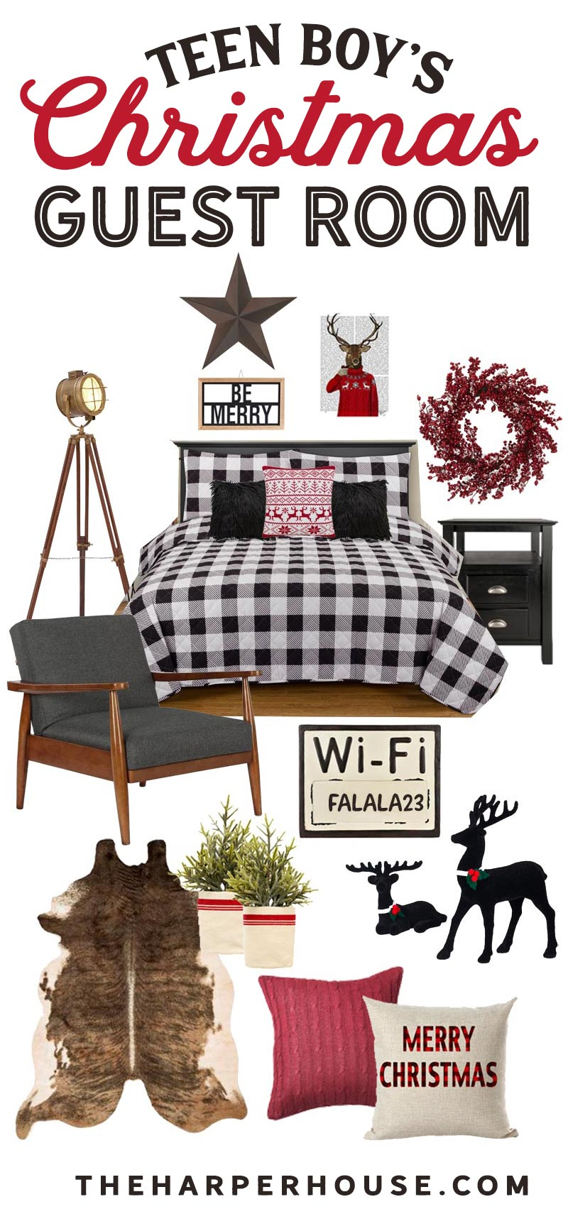Christmas decor to decorate your teen boy's bedroom.