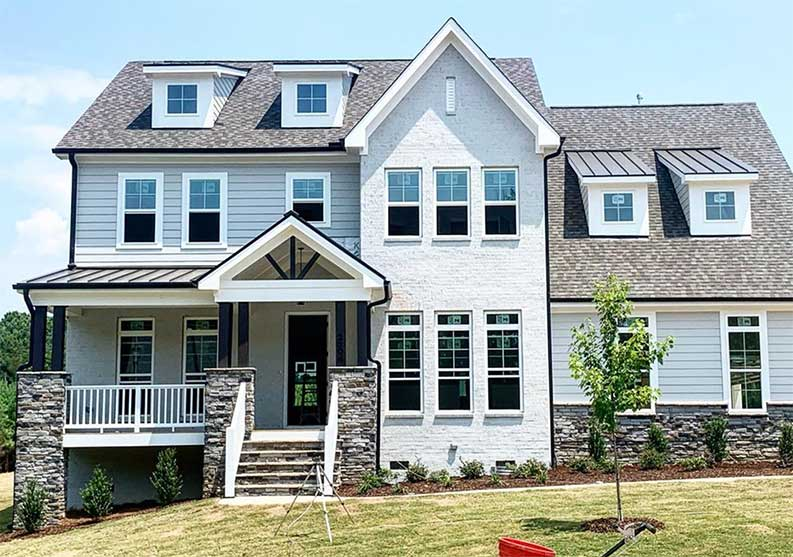 Sherwin Williams exterior paint schemes, Repose Gray SW 7015