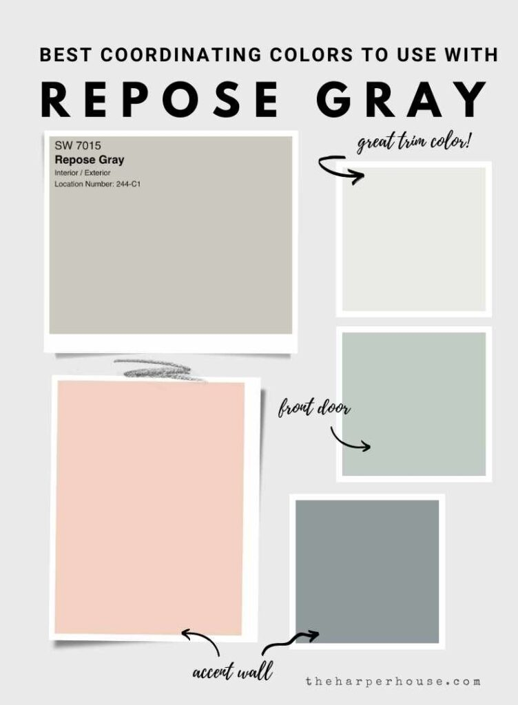 best paint colors to use with Repose Gray