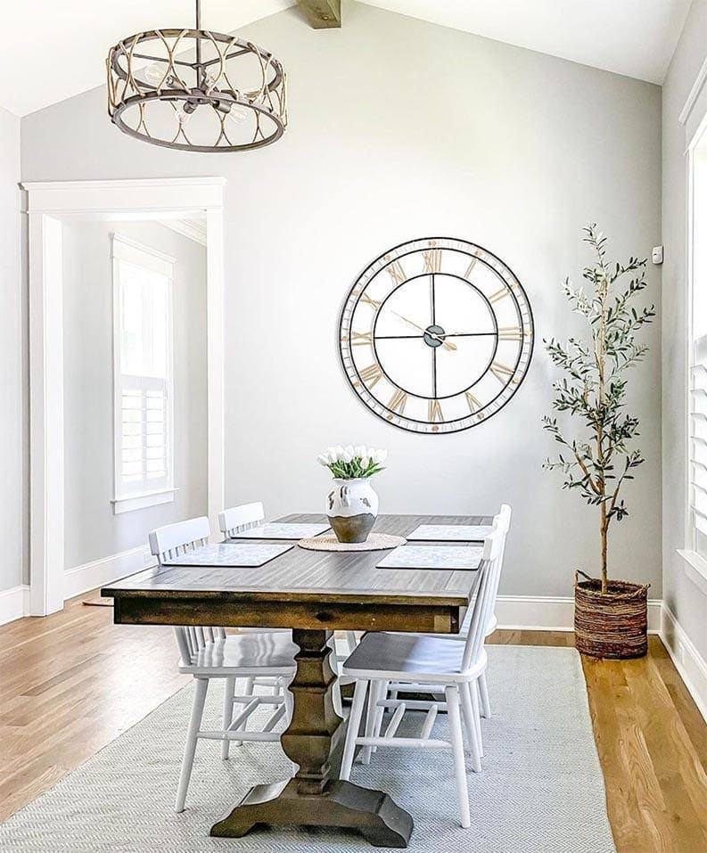 Repose Gray dining room via Home by KMB