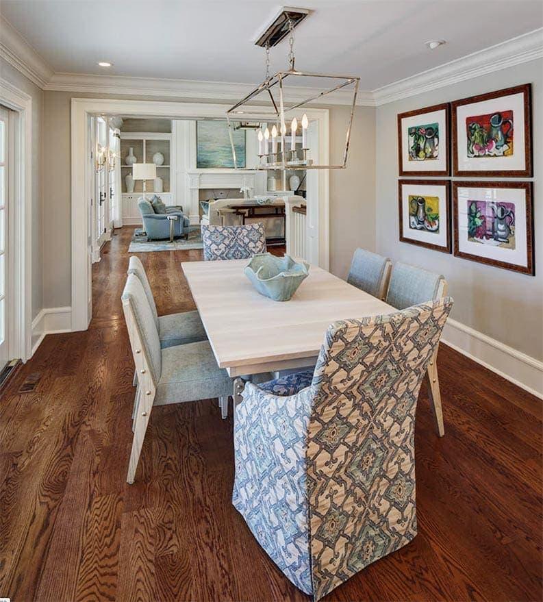 Repose Grey walls in dining room via W Design Interiors