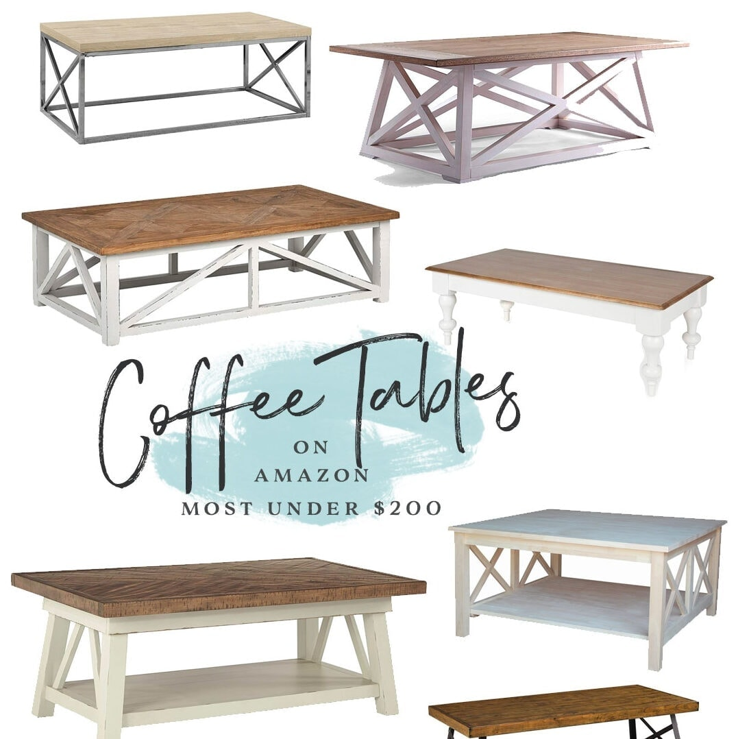 Farmhouse Coffee Tables from Amazon - most under $200