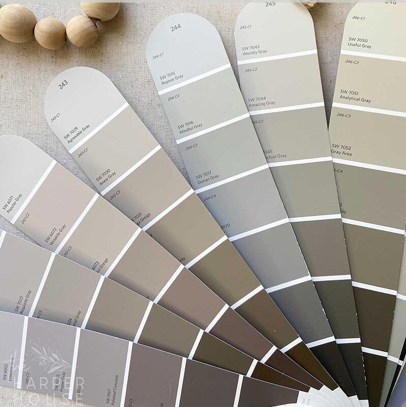 Sherwin Williams Repose Gray (SW 7015) Color Review, interior and exterior pictures, videos and a secret tip!
