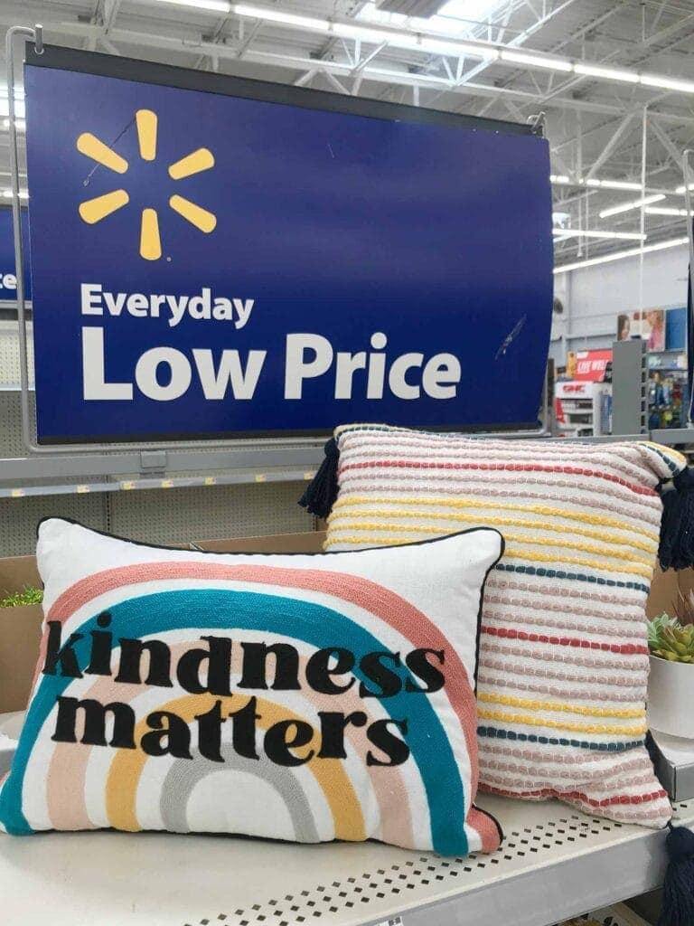 Walmart Wow & Now budget friendly pillows