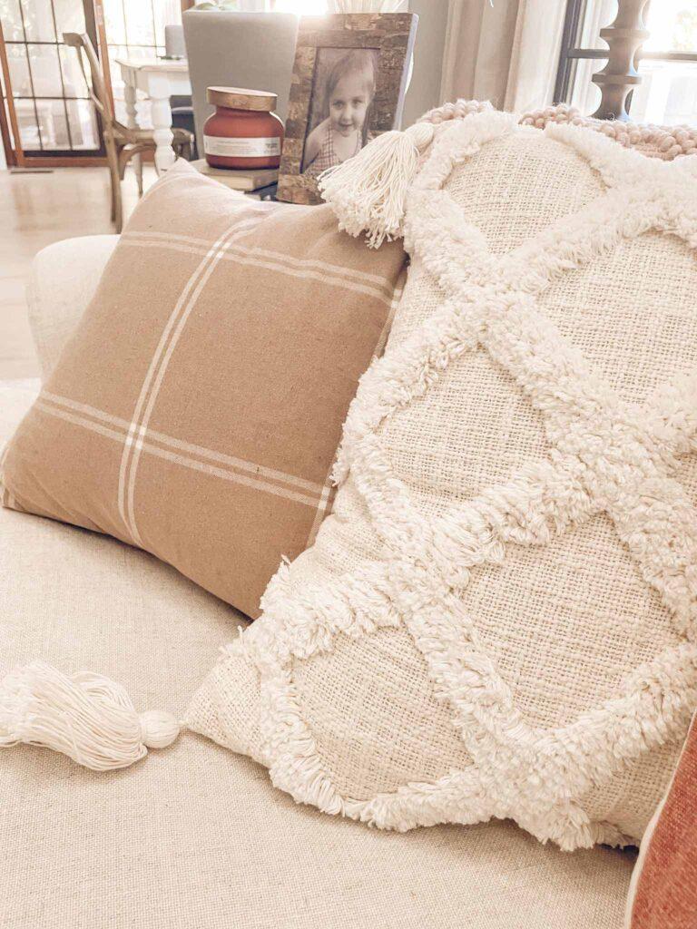 Walmart fall pillows and home decor